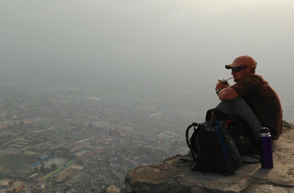 Sipping Yerba Matte above Lima, Peru (2014)
