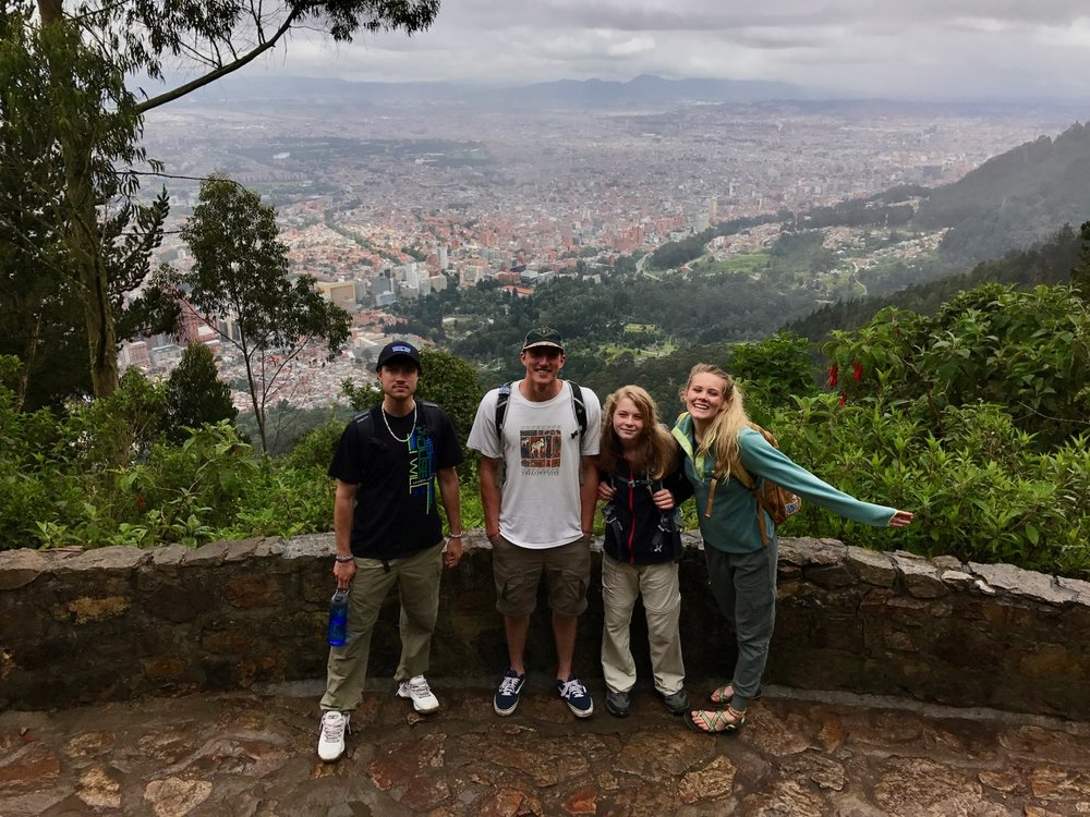 We slogged to the top of Monserrate (10, 341 ft.) outside Bogota and gave out Gospel tracts all along the way.