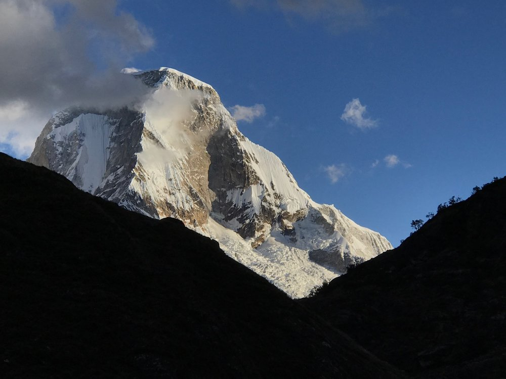 Huascuran, the Highest Peak in Peru (22,205 ft.)