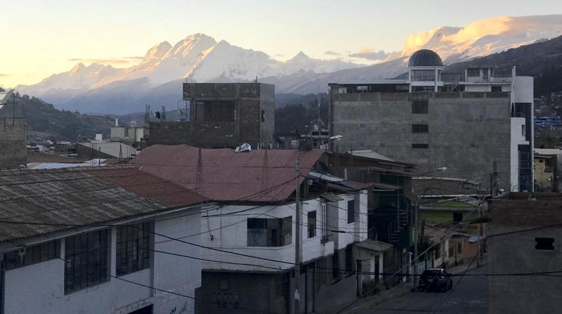 The Cordillera Blanca from Huaraz