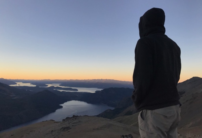 Pondering Such Things high above Bariloche at Sunset