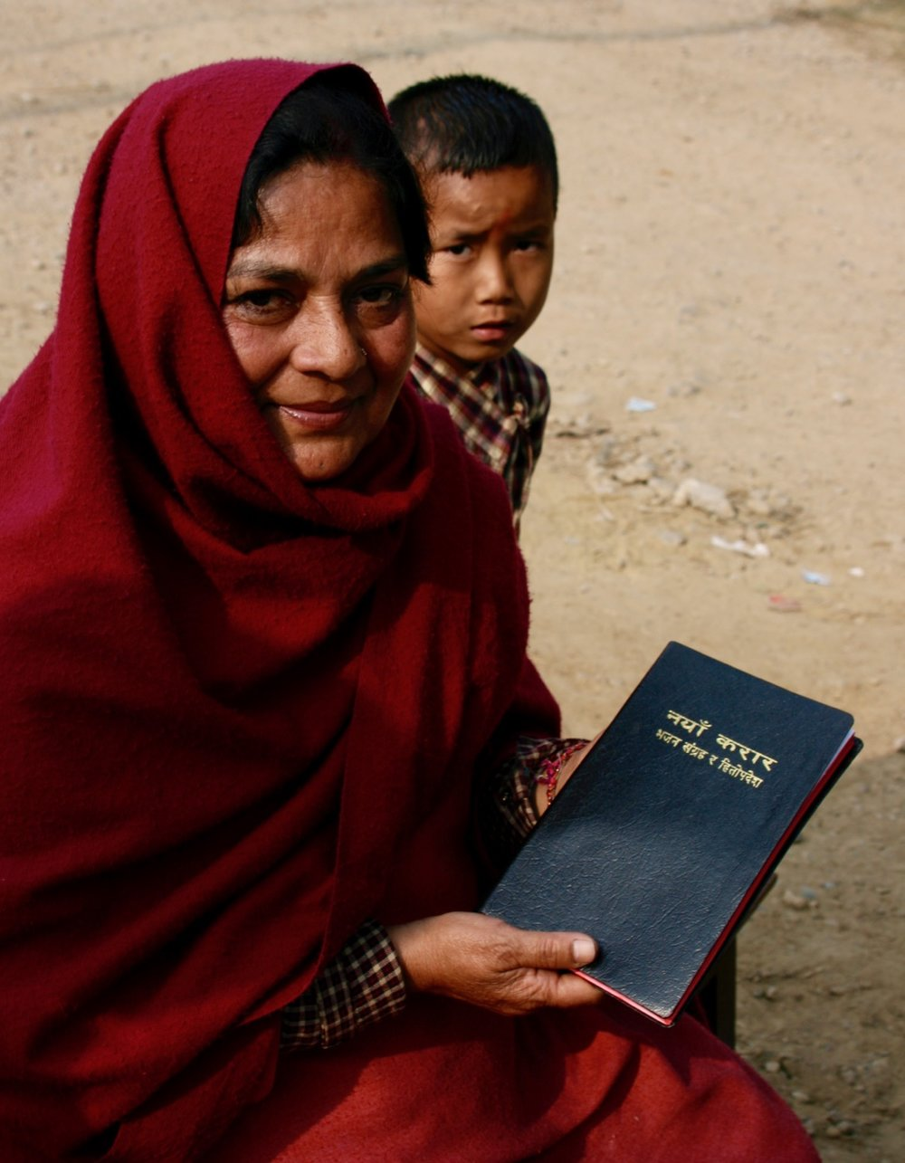 This Hindu mother gladly received a Bible in Nepalgunj back in January of 2007.