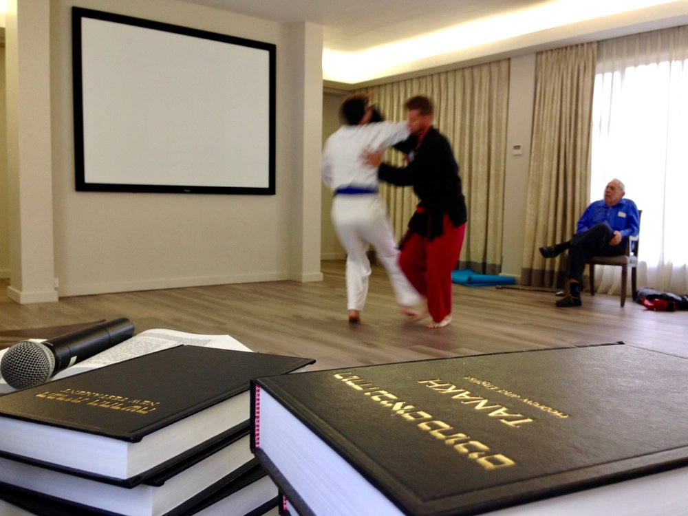 In 2014, a martial arts demonstration in a Jewish Rest Home in Cape Town, South Africa opened doors to proclaim the Gospel and distribute the Hebrew Scriptures.