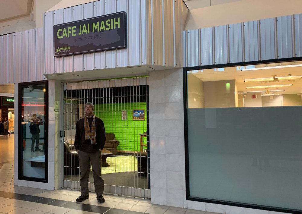 Along our search for Israelis, we did find this Christian Nepali coffee shop in one podunk mall. Too bad no one was around.