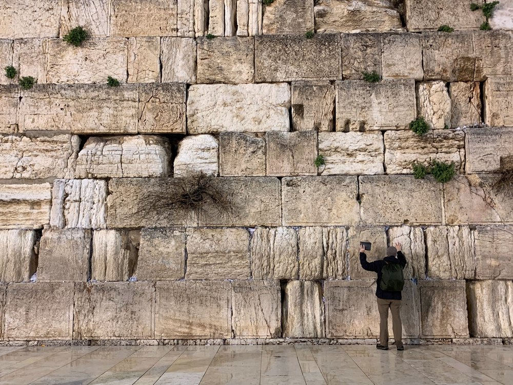 It is great to be back praying aloud Isaiah 53 and 59 at the Western Wall in Jerusalem