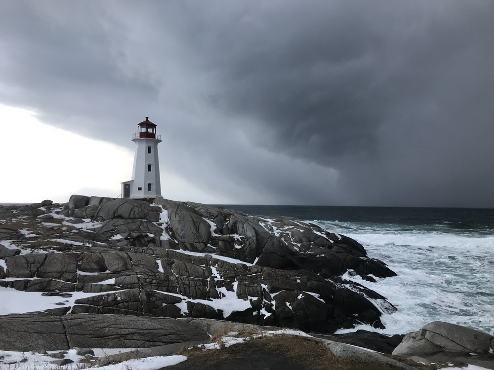 We were blessed with this beautiful scene in Nova Scotia