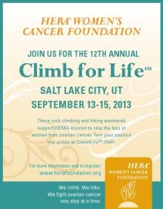 Poster HERA Climb4Life UT 2013