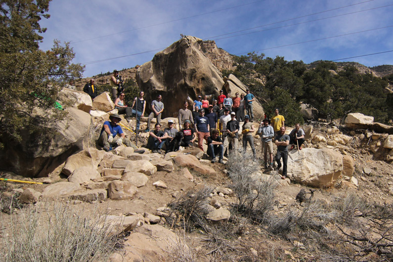 Volunteers at the 2015 Joe's Valley Adopt A Crag - Salt Lake Climbers Alliance