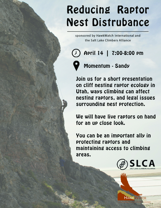 Reducing Raptor Nest Disturbance_Sandyposter