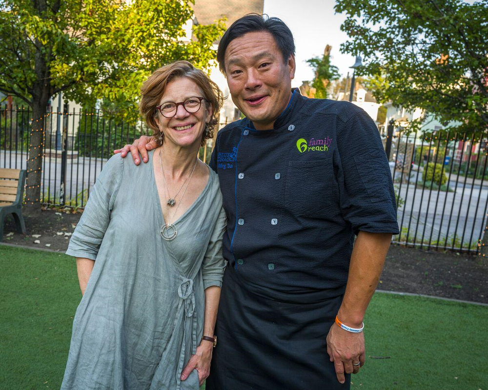 Jody Adams and Ming Tsai (Photo Cred:   KEN RIVARD)