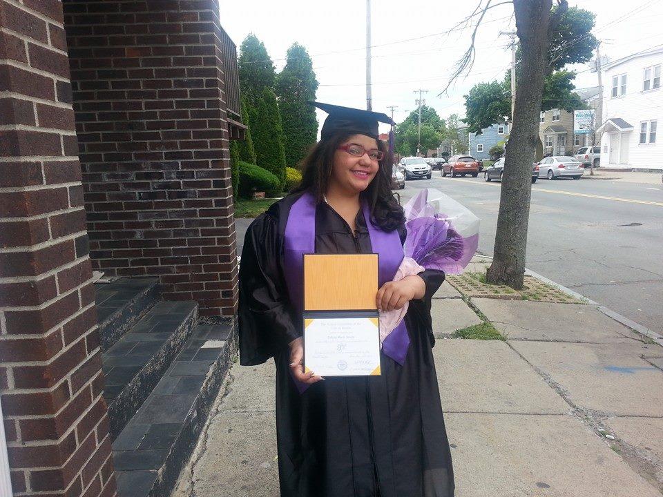 Tiffany Smyth at her high school graduation.