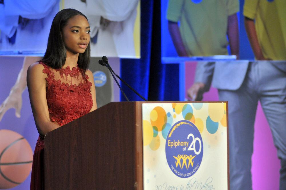 Juliana during her Gala speech