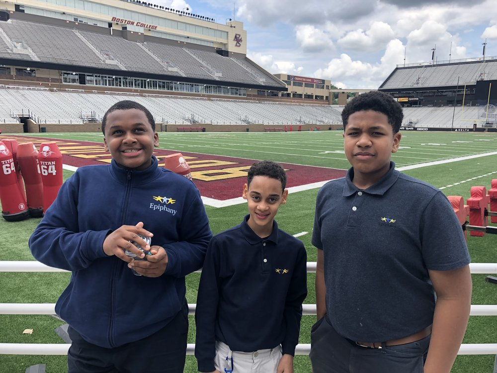 Victor, Angel and Micah at Northeastern