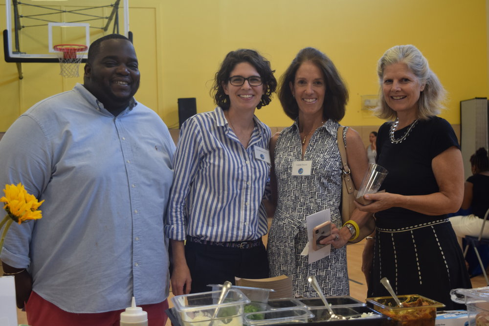 Chef Tey, Chef Sue, Valerie Thayer, Jane Nelson