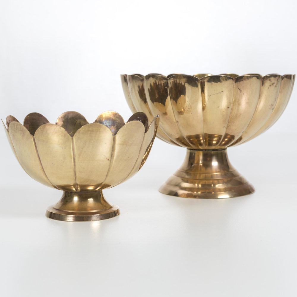 Vintage Brass Compote Collection