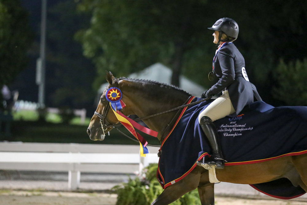 Victoria Colvin and Cuba after winning the 2017 USHJA International Hunter Derby Finals_Photo by Barre Dukes - Phelps Media Group.jpg