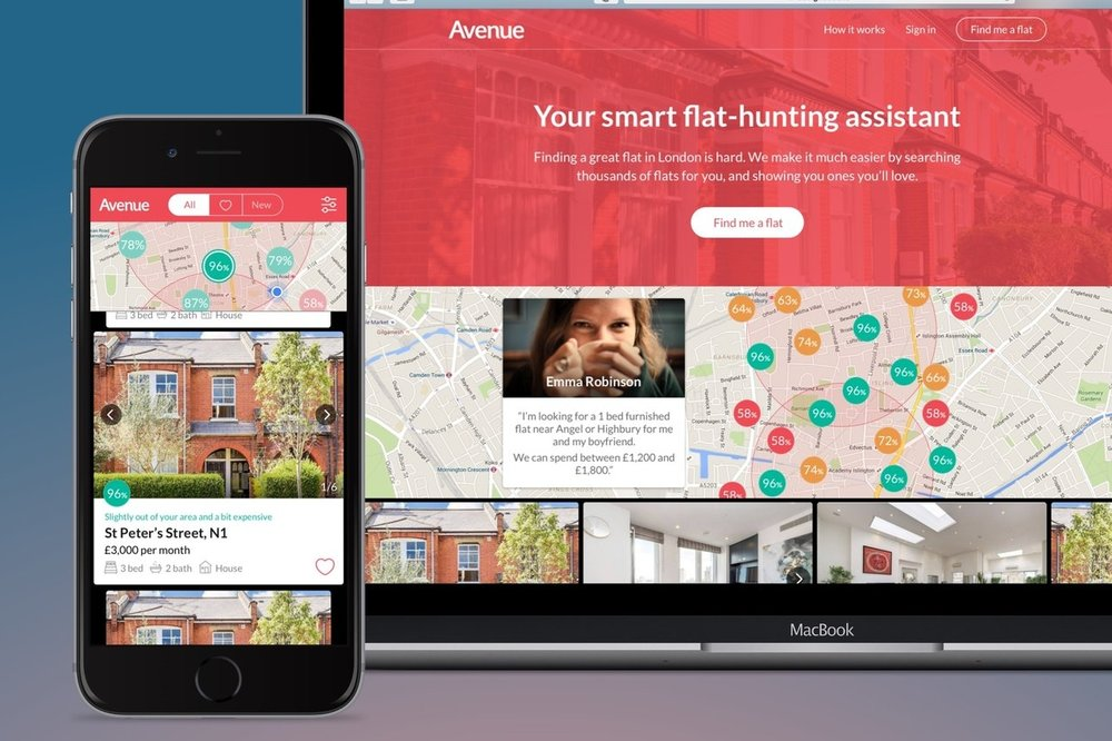 Avenue  – Co-founder/CTO of a London flat-hunting assistant (Node.js/Express & AWS)