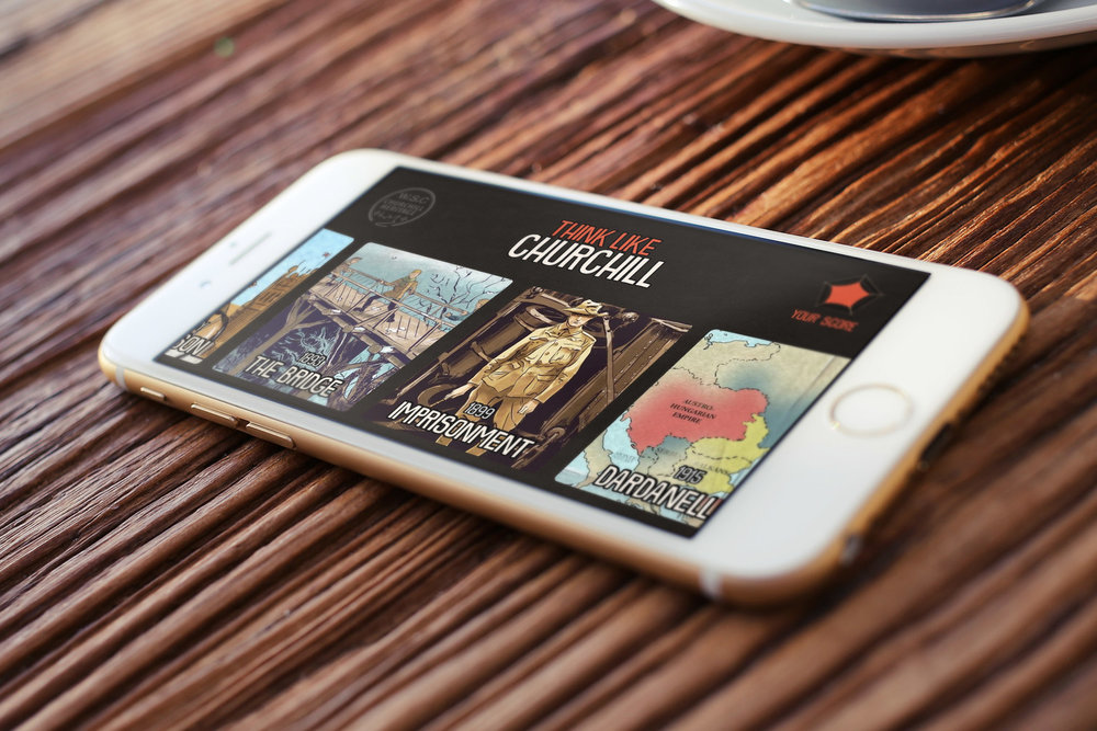 Think Like Churchill  – I built this app in Swift, including a custom iOS After Effects renderer