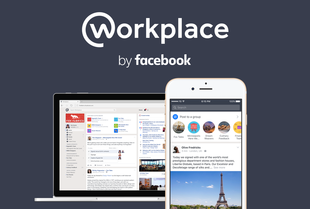 Workplace by Facebook  – A work collaboration tool. I work on both the Workplace and Workplace Chat iOS apps.