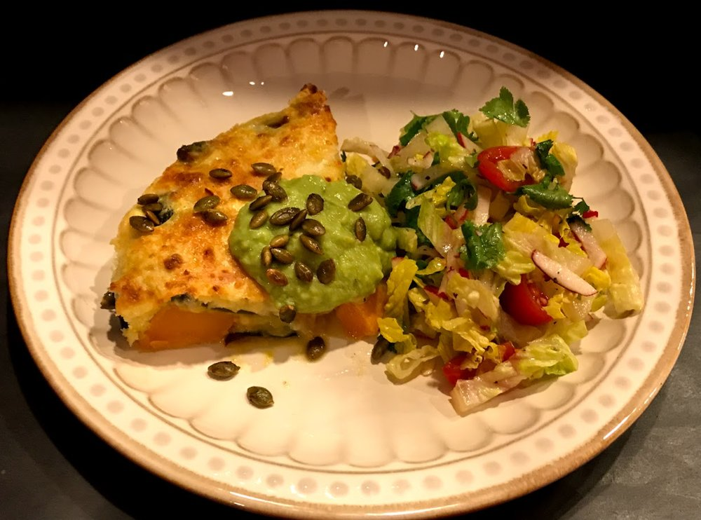 Pumpkin Cazuela and salad.jpg