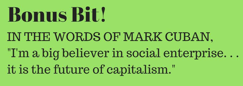 mark cuban social enterprise peaceful fruits