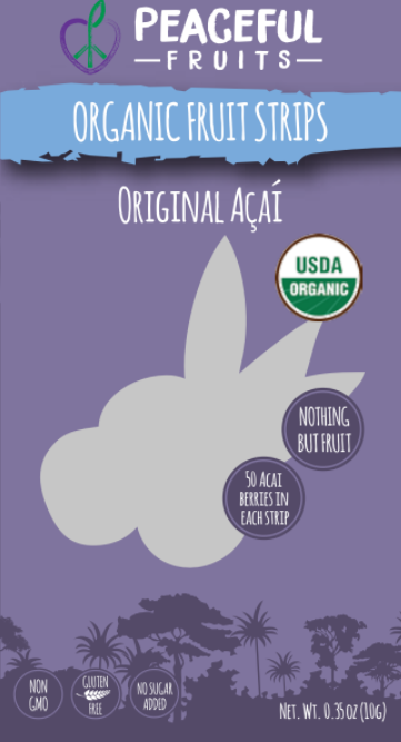Ingredients: Organic Acai, Organic Pear, Organic Apple