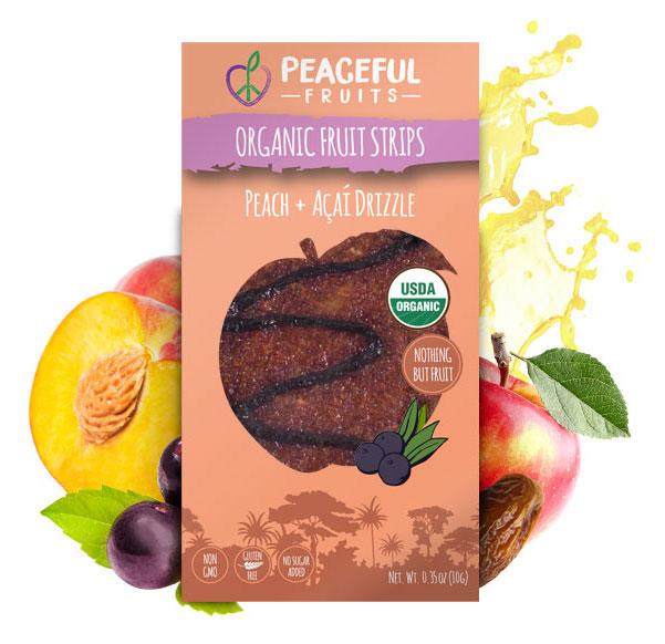 Healthy Peach + Acai Drizzle Fruit Leather