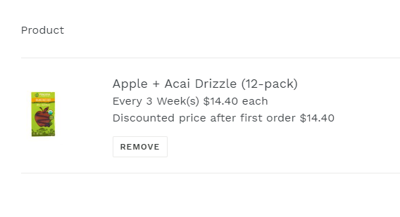 Apple + Acai Drizzle Subscribe and Save
