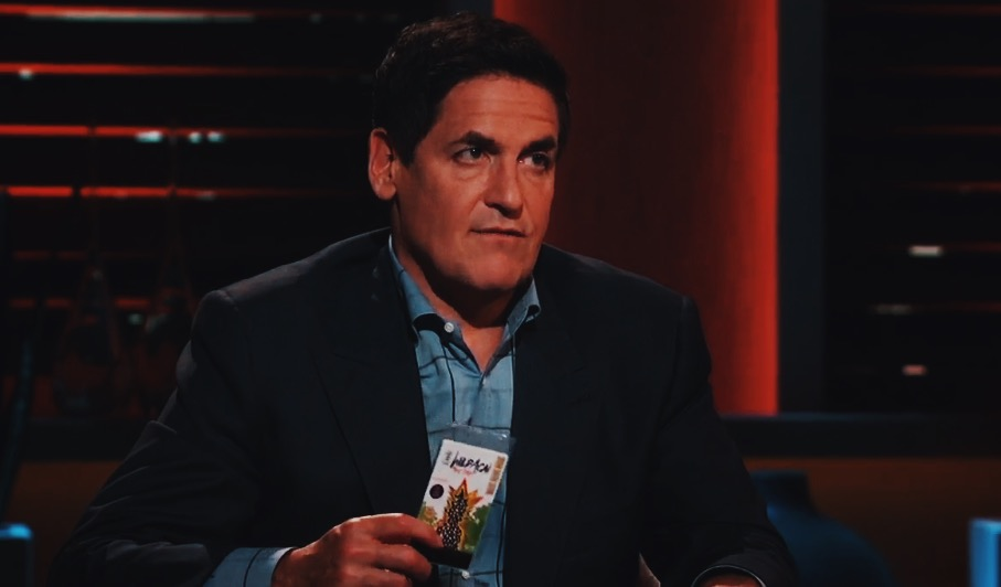 Mark Cuban holding Peaceful Fruits, in our vintage packaging!