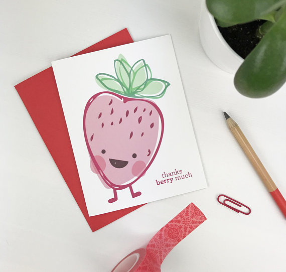 """Each Strawberry + Acai Drizzle 12-pack will get a """"Thank You Berry Much!"""" card in their order! While supplies last."""