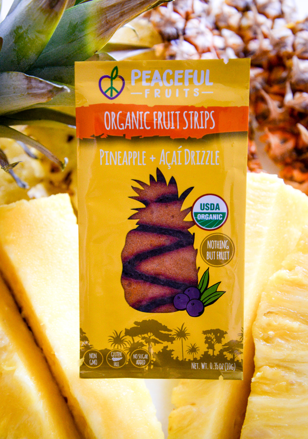 Pineapple + Acai Drizzle Fruit Leather