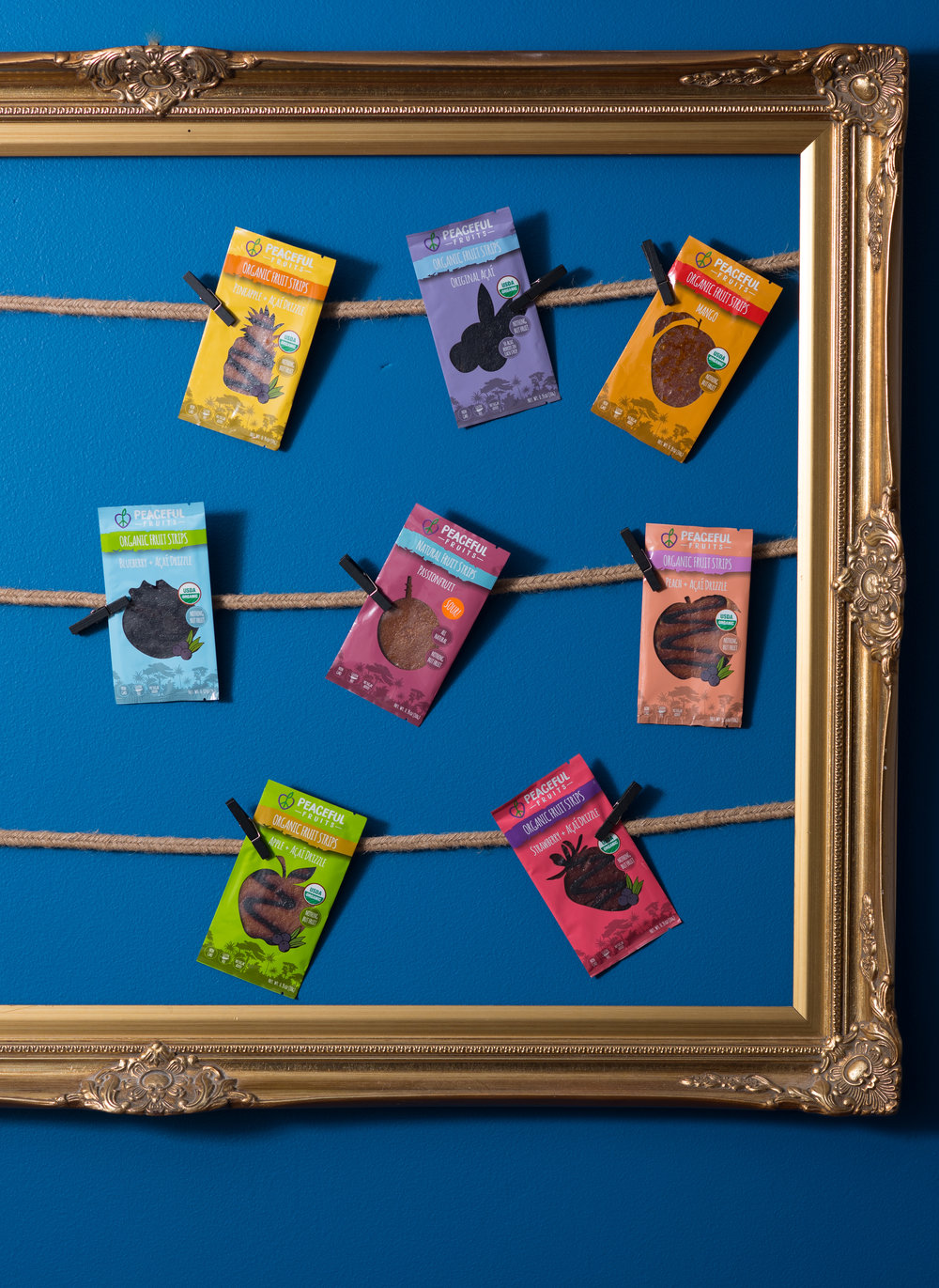 snacks hung on the wall