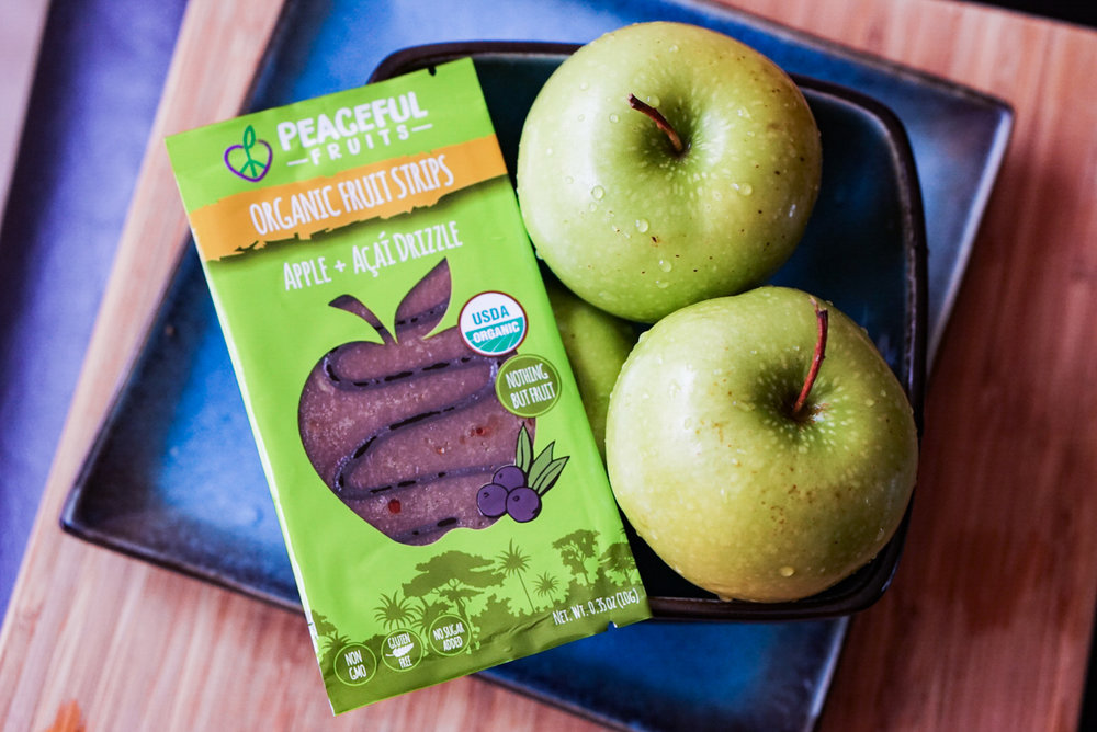 apple + acai drizzle snack with whole apples