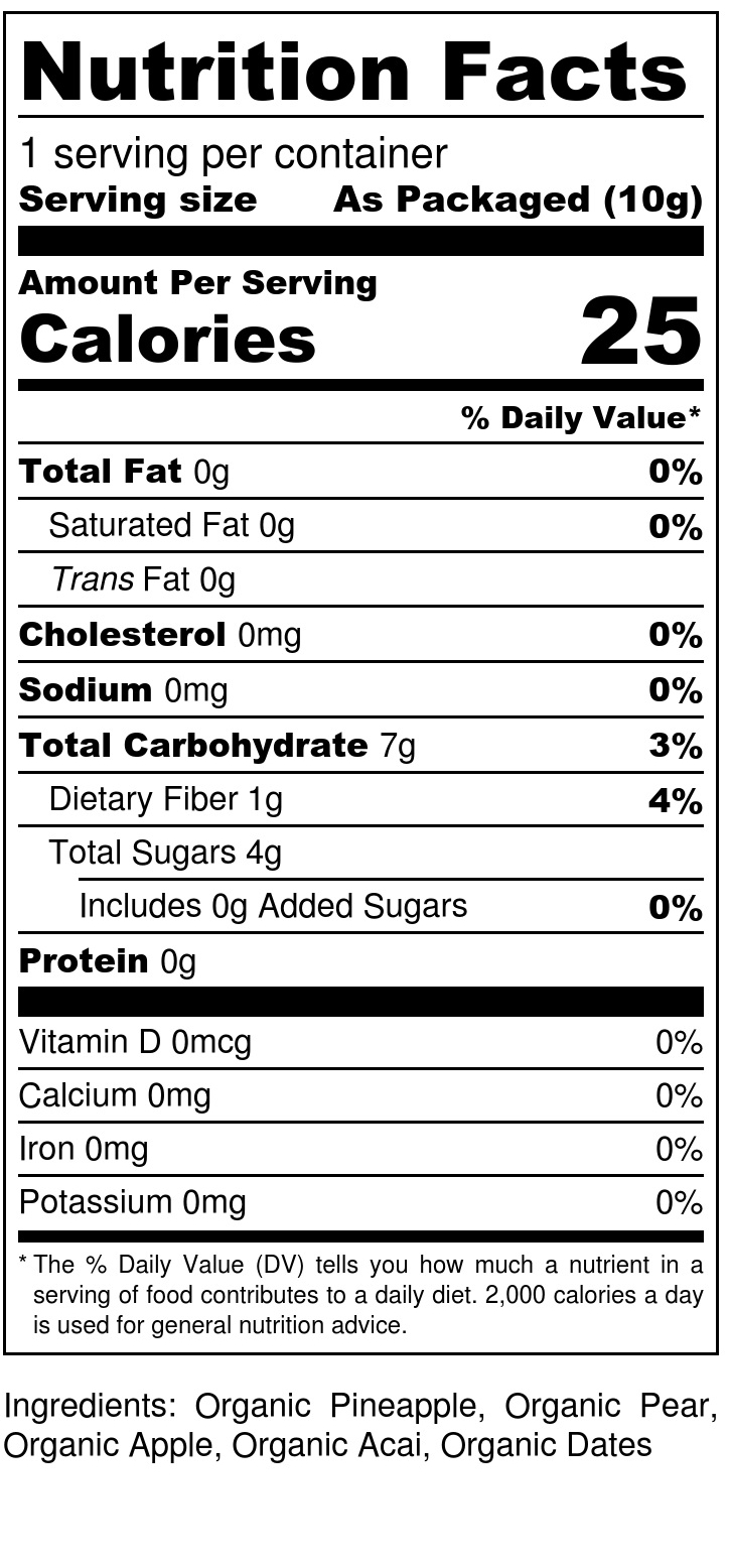 Pineapple + Acai Drizzle - Nutrition Label (1).jpg