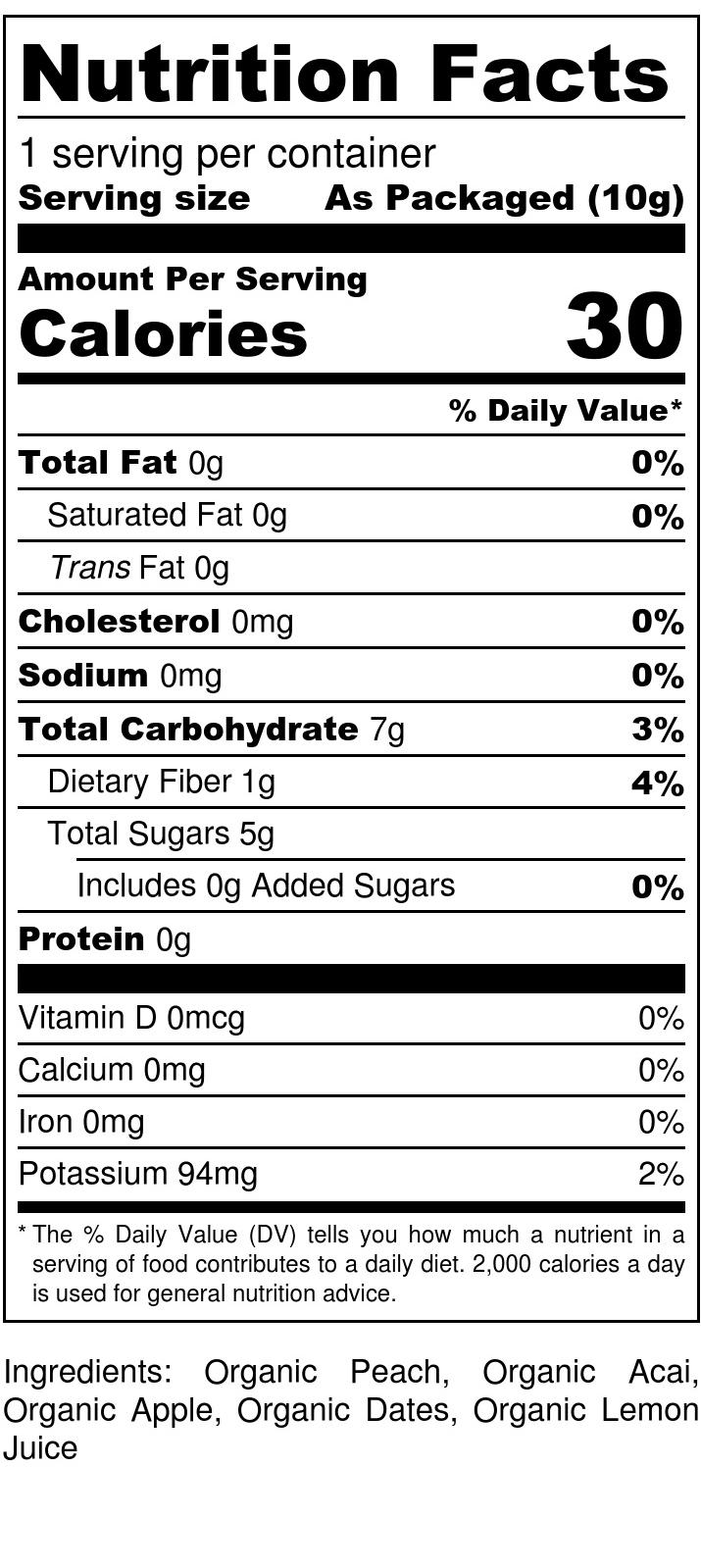 Peach + Acai Drizzle - Nutrition Label (1).jpg
