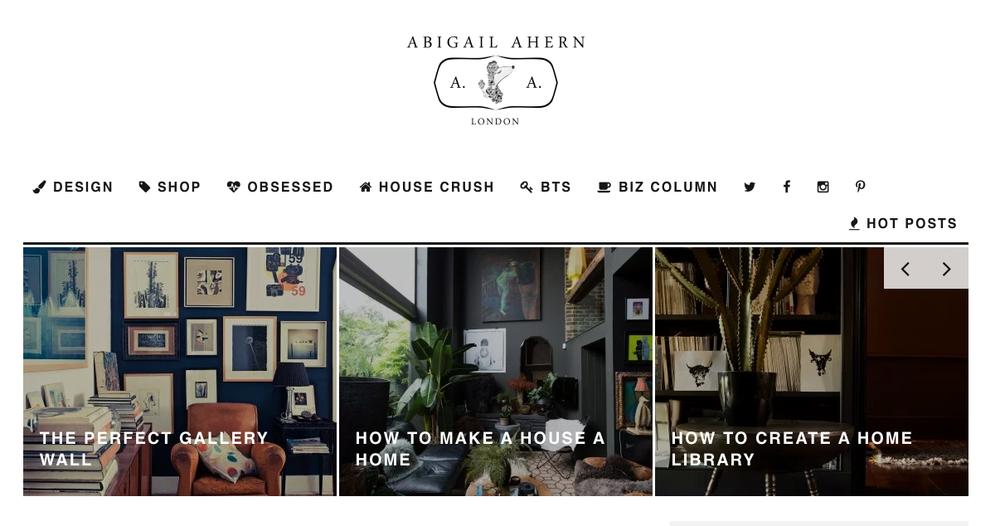 Abigail Ahern Blog