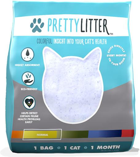 pretty litter is a based litter service that sends you a 4pound bag each month and can help you monitor your catu0027s health by its - Cat Litter Reviews