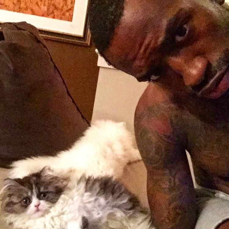 Mr. Quackers and Miss Meow with owner Russ Smith / Image Credit: ESPN