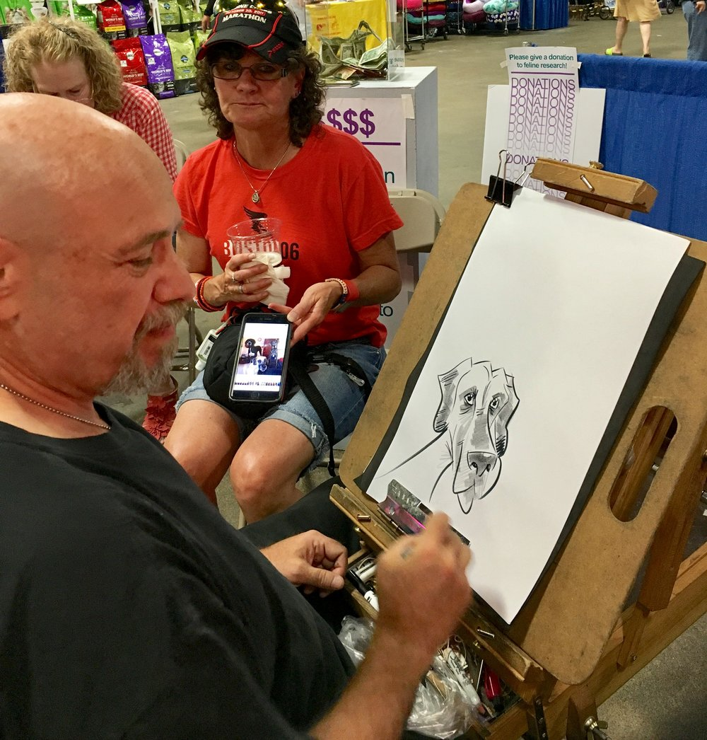 Caricaturist Steve Nyman doin' his thang. /  Image Courtesy: Garden State Cat Club