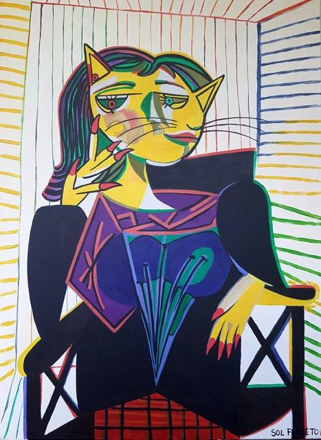 """""""Dora Caat Portrait"""" by Sol Felpeto"""