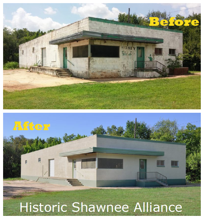 Pictured above is Historic Shawnee Alliance's project for the 2016 Fresh Paint Days program