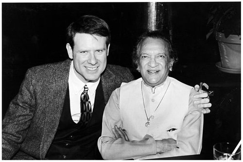 With Ravi Shankar celebrating his 75th birthday, NYC, 1996