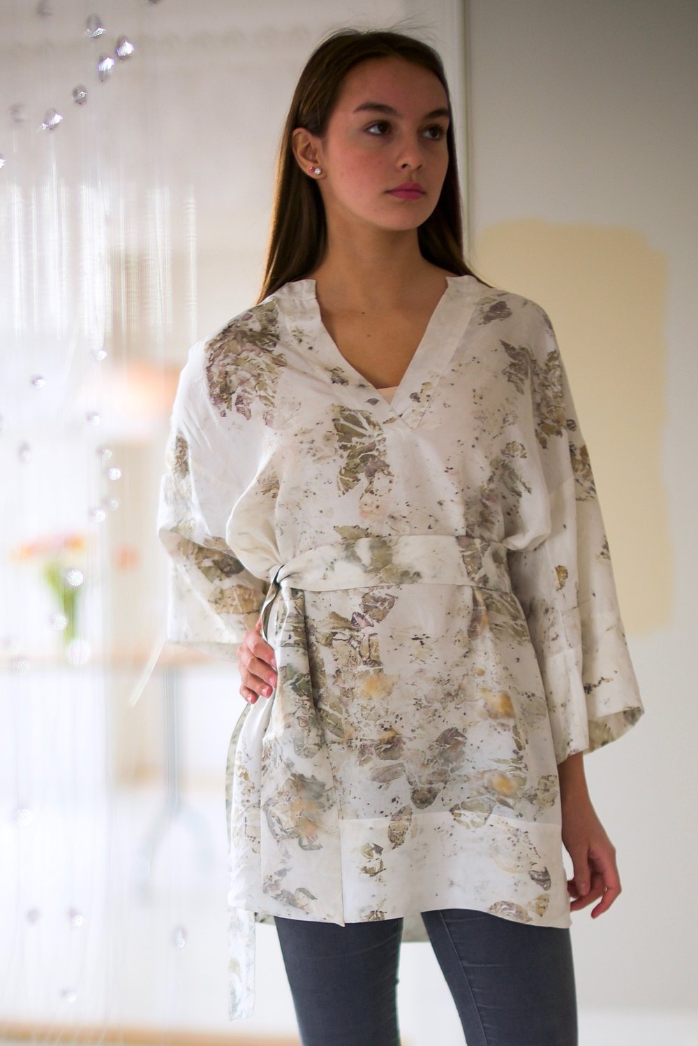 SILK TUNIC — NO. 6  of 16 —  SIZE S