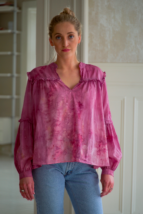 ** NEW ARRIVAL ** — COTTON BLOUSE — NO  . 2 OF 18 —  SIZE M