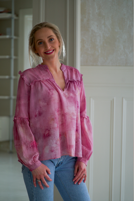 ** NEW ARRIVAL ** — COTTON BLOUSE — NO  . 14 of 18 —  SIZE M