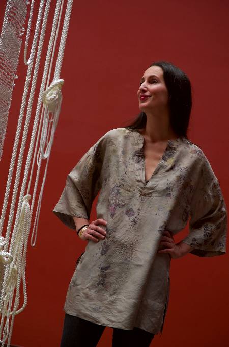 ** NEW ARRIVAL ** — SILK TUNIC — NO  . 10 OF 16 —  SIZE S