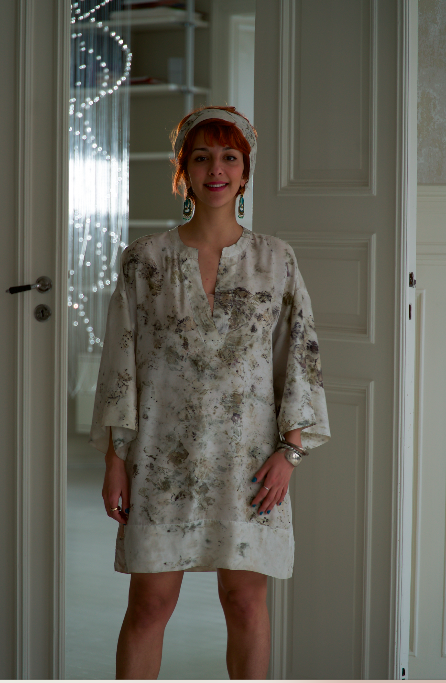 ** NEW ARRIVAL ** — SILK TUNIC — NO  . 15 OF 16 —  SIZE S