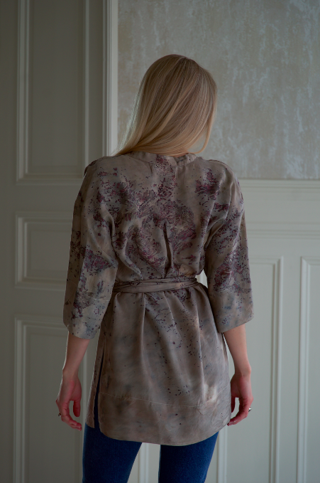 ** NEW ARRIVAL ** — SILK TUNIC — NO  . 12 OF 16 —  SIZE S