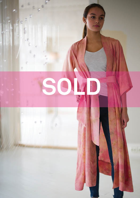 ** NEW ARRIVAL ** — SILK ROBE  — NO  . 24 OF 33 —  SIZE S