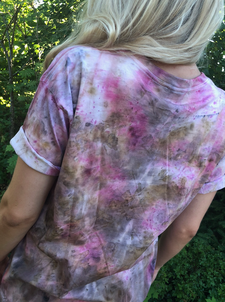 UNISEX COMPOST AND COCHINEAL T-SHIRT — SIZE S, M, L and XL